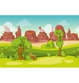 seamless cartoon nature landscape vector image vector image