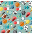 Seamless pattern of sport icons vector image vector image