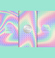 set colorful neon backgrounds vector image vector image