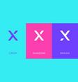 set letter x minimal logo icon design template vector image vector image