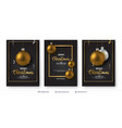 set of christmas and new year banner templates vector image vector image