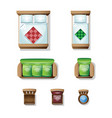 set top view for interior icon design vector image vector image