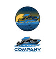 speed boat logo logo template vector image vector image