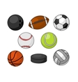 Sport balls isolated icons vector image vector image