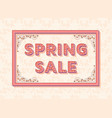 spring sale background template with retro vector image vector image