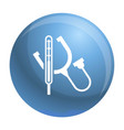 stethoscope icon simple style vector image vector image