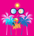 summer tropical background with palm trees and vector image vector image