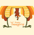 thanksgiving turkey for happy thanksgiving day vector image
