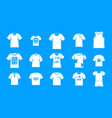 tshirt icon blue set vector image