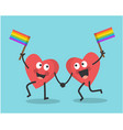 valentines day and rainbow flag vector image vector image