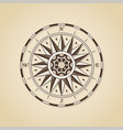 vintage old antique nautical compass rose sign vector image vector image
