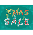 Xmas Sale - card for retail vector image vector image