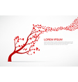 005 Heart Tree element for valentine day and vector image vector image