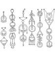 a set of magic items vector image