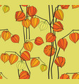 abstract floral seamless pattern winter cherry vector image vector image