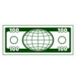 abstract globe currency vector image