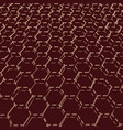 abstract honeycomb background vector image vector image