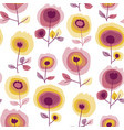 abstract roses seamless pattern vector image vector image
