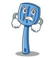 angry spatula character cartoon style vector image vector image