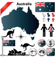 Australia map vector | Price: 1 Credit (USD $1)