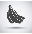Banana icon on gray background vector image vector image