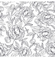 black and white floral seamless pattern vector image vector image