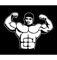 body builder vector image vector image