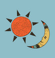 boho collection with sun and moon vector image vector image