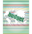 budget word on touch screen modern virtual vector image vector image