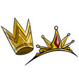 cartoon golden royal queen crown vector image vector image