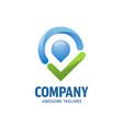 check point logo concept vector image