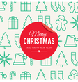 christmas card icons vector image vector image