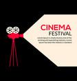 cinema movie poster design film camera vector image vector image
