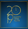 classy time new year background vector image vector image