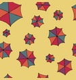 colorful umbrellas seamless pattern vector image vector image