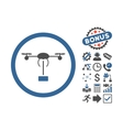 Copter Shipment Flat Icon With Bonus vector image vector image
