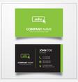 Domain edu icon business card template
