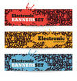 electronic banners set vector image vector image