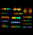 equalizer sound waves frequency vector image vector image