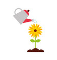 farming sprinkler with flower vector image