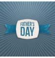 Fathers Day textile Emblem with greeting Ribbon vector image vector image