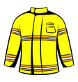 firefighter jacket icon icon cartoon vector image vector image