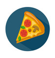 flat style pizza icon vector image