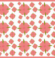 flower leaves seamless pattern design vector image vector image