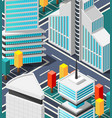 fragment of futuristic city landscape vector image