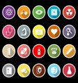 General hospital icons with long shadow vector image vector image