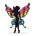 girl with butterfly wings vector image