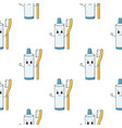 happy toothpaste colored seamless pattern with vector image vector image
