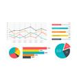 infographics marketing statistic modern vector image