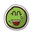 lemon fruit character comic icon vector image